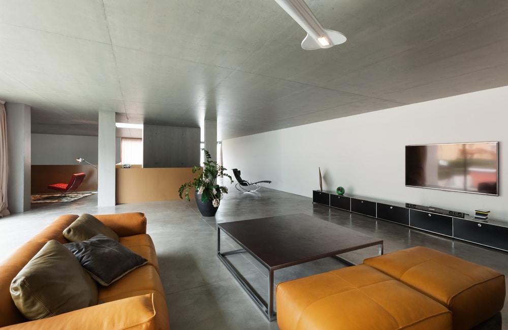Woonkamer betonvloer