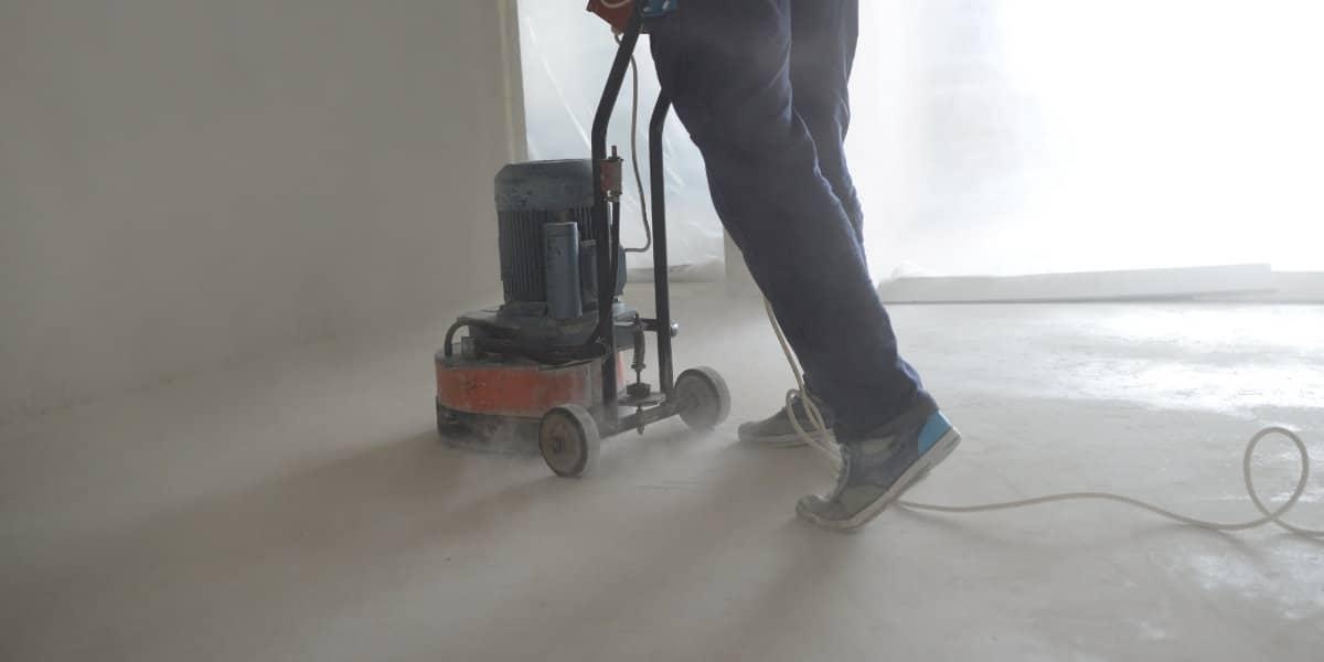 beton schuren en polijsten