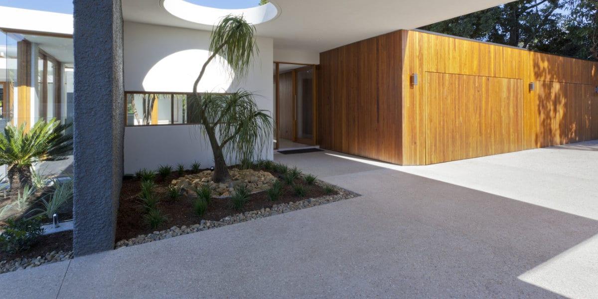 dikte betonvloer buiten